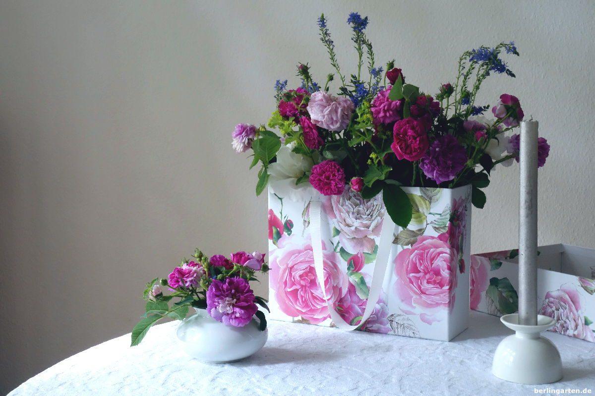 Dekoration Rosenstrauß Blumenbox