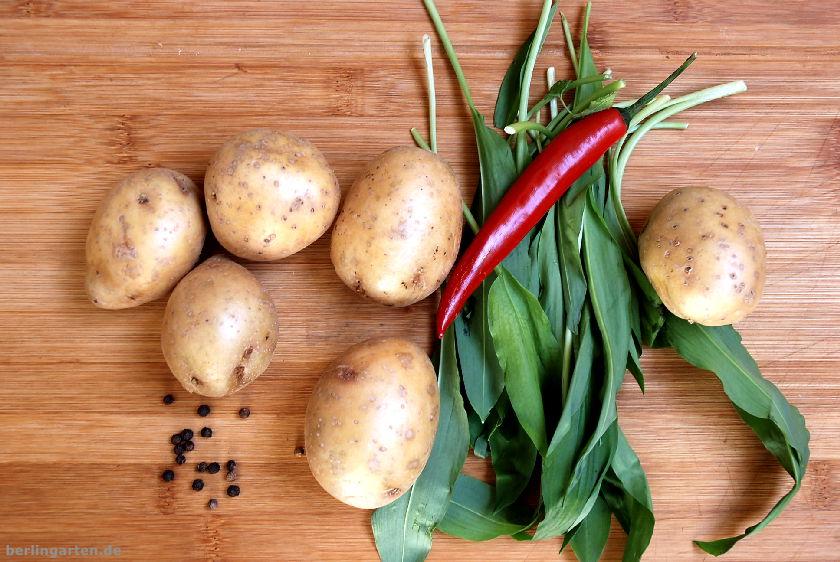 Kartoffeln und Bärlauch