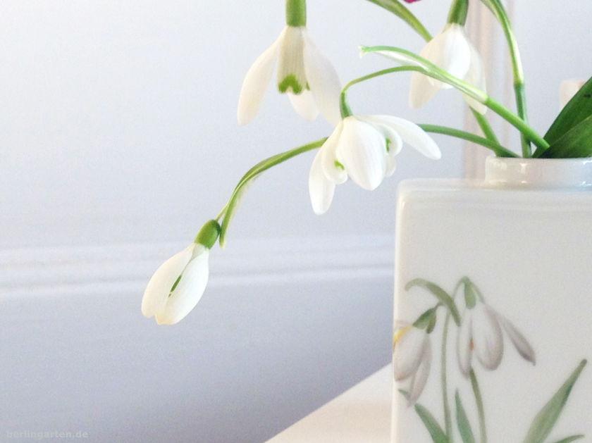 Schneeglöckchen KPM-Vase