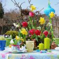 Ostertafel Frühlingsblumen