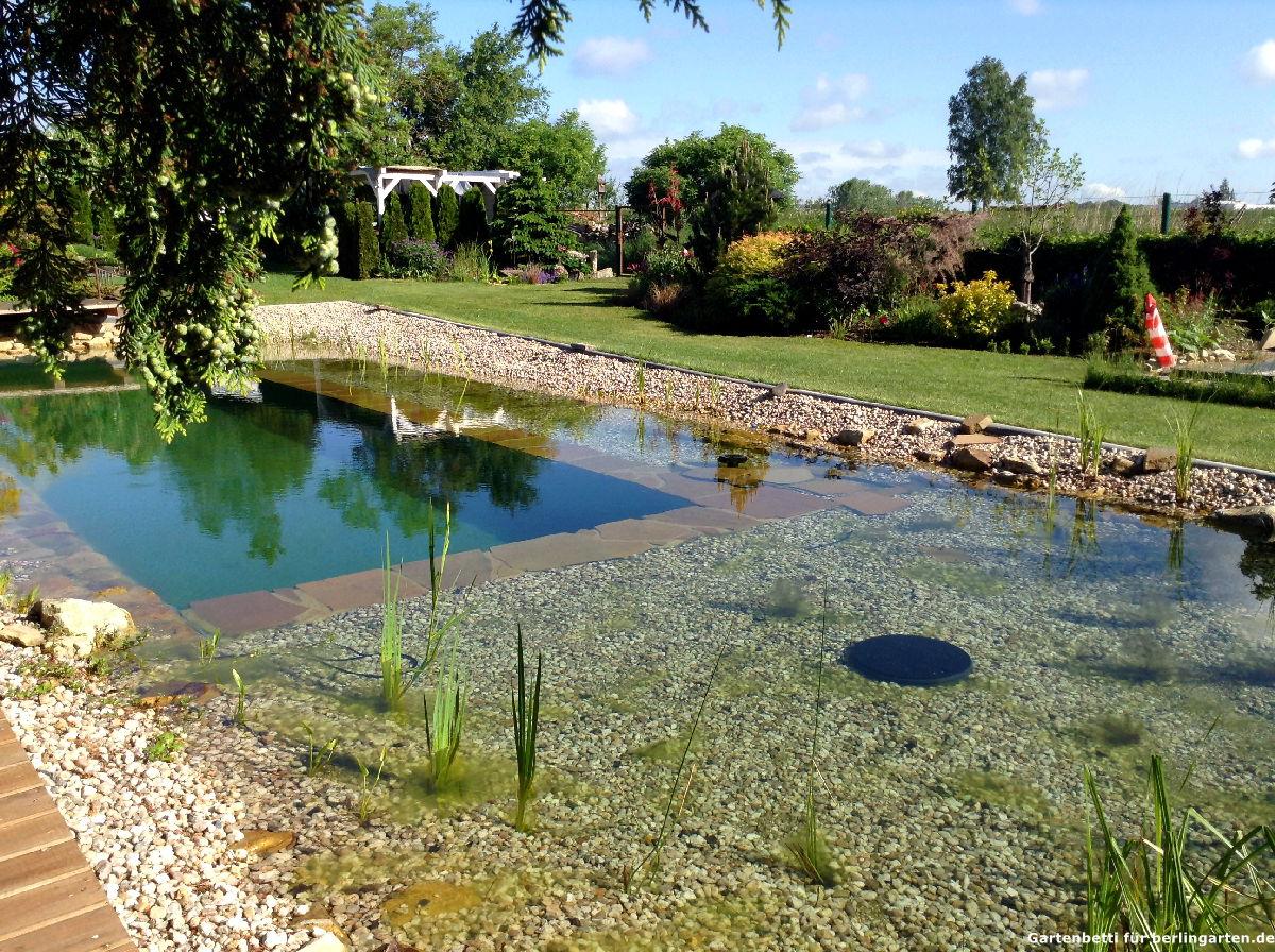 Fertig: Gartenbettis Schwimmteich