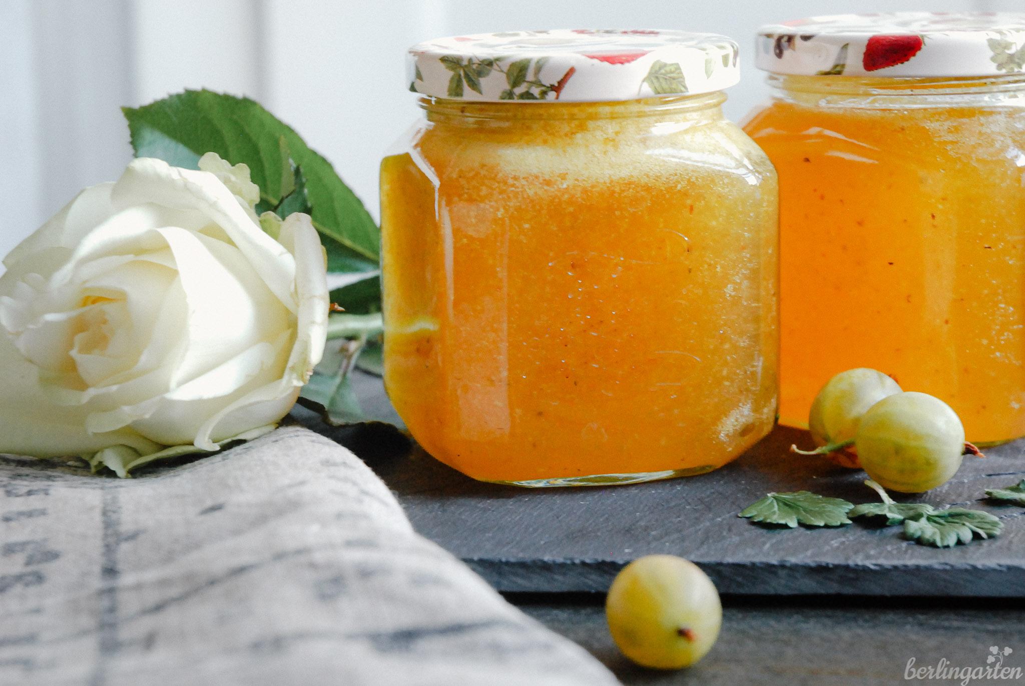 Rezept Stachelbeermarmelade mit Zitrone und Ingwer