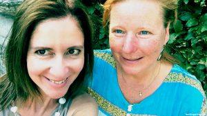 Selfie von Daniella & Xenia beim ersten Treffen